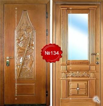 входная дверь массив с зеркалом